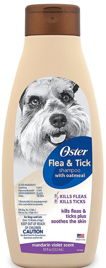shampoo dog oster flea
