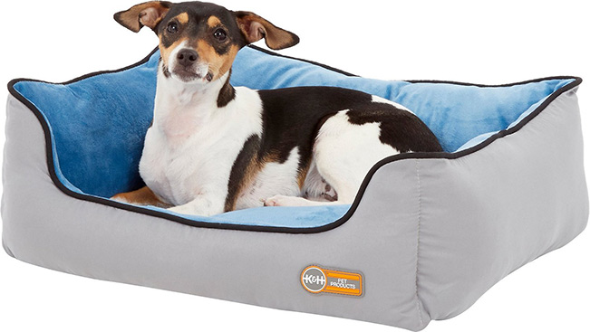 K&H Pet Products Self-Warming Two Tone Lounge Sleeper Bolster