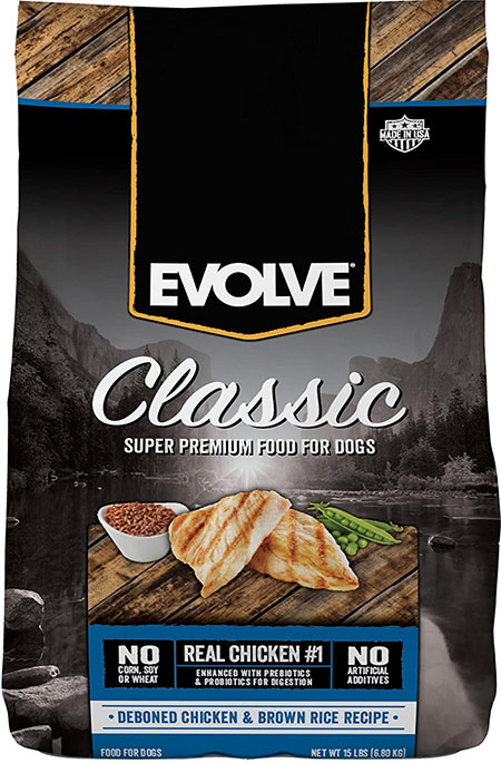 evolve classic dog food bag